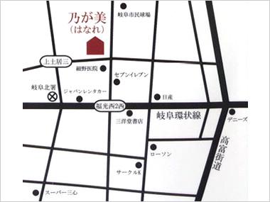 岐阜店の地図