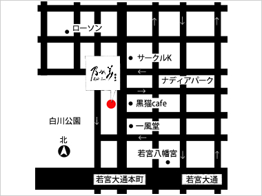 名古屋店の地図