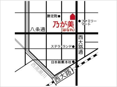 京都店の地図
