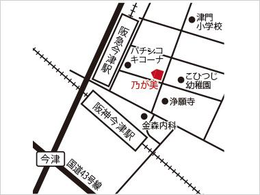 西宮店の地図